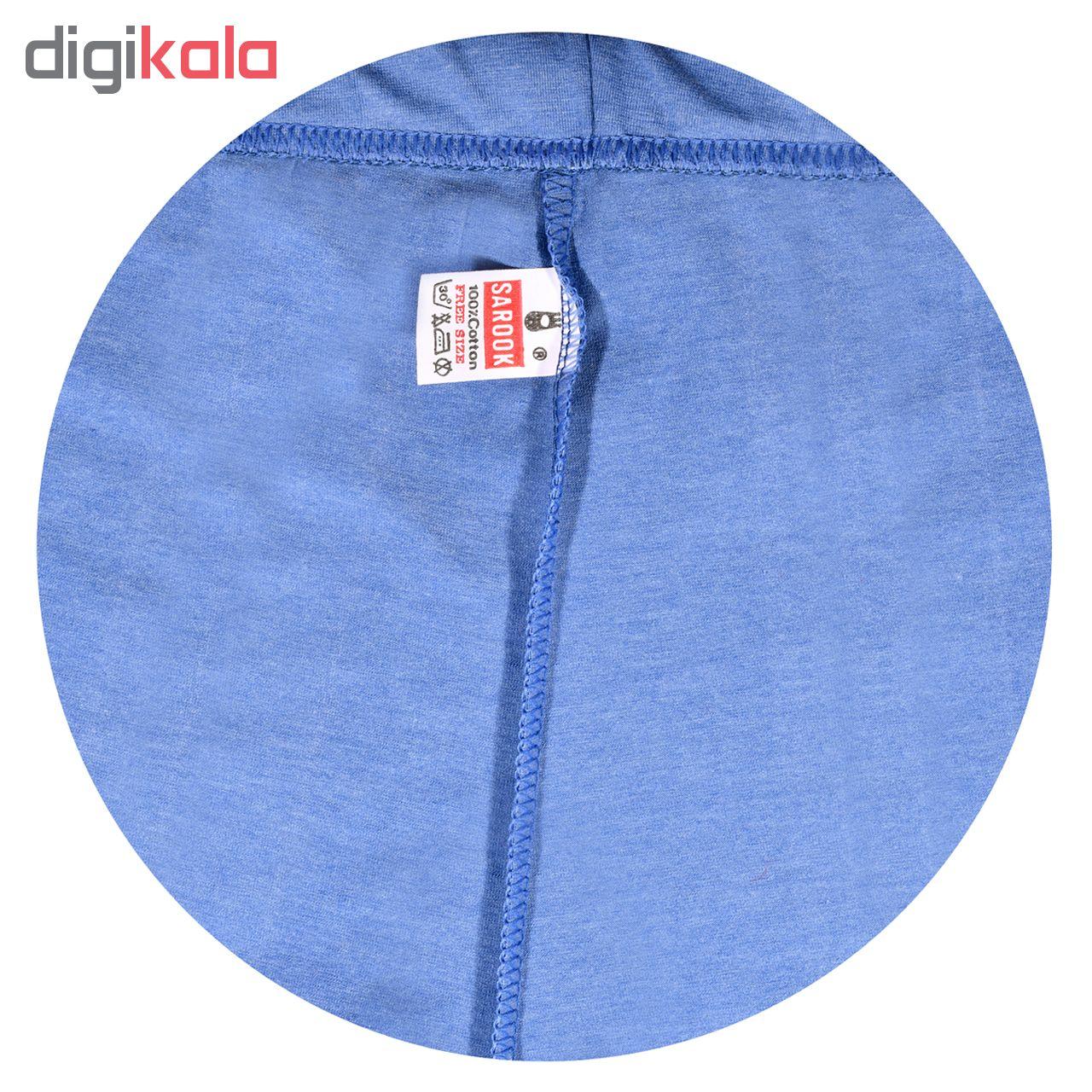 خرید                                      شلوارک زنانه ساروک مدل SHZ2TKTS07 رنگ آبی