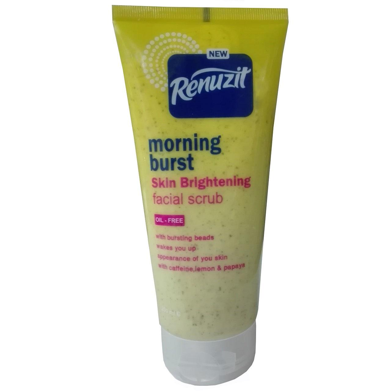 اسکراب سفید کننده رینوزیت مدل morning burst حجم 200 میلی لیتر