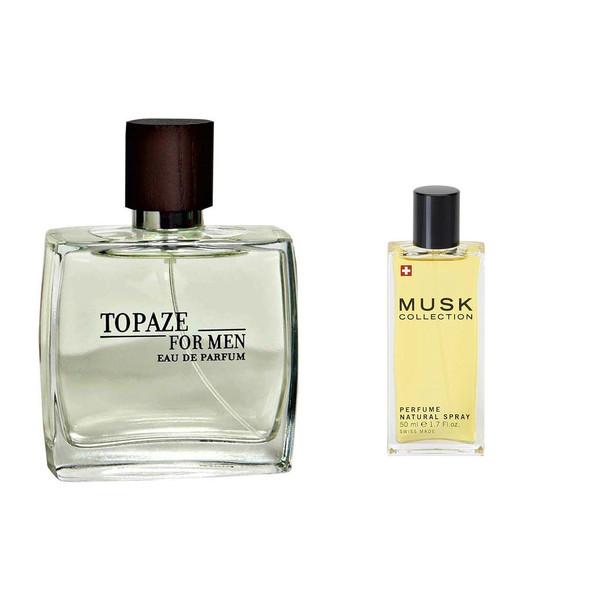 پک ادو پرفیوم مردانه استاویتا مدل Topaze به همراه ادو پرفیوم مردانه استاویتا مدل Musk Collection  حجم50 میل