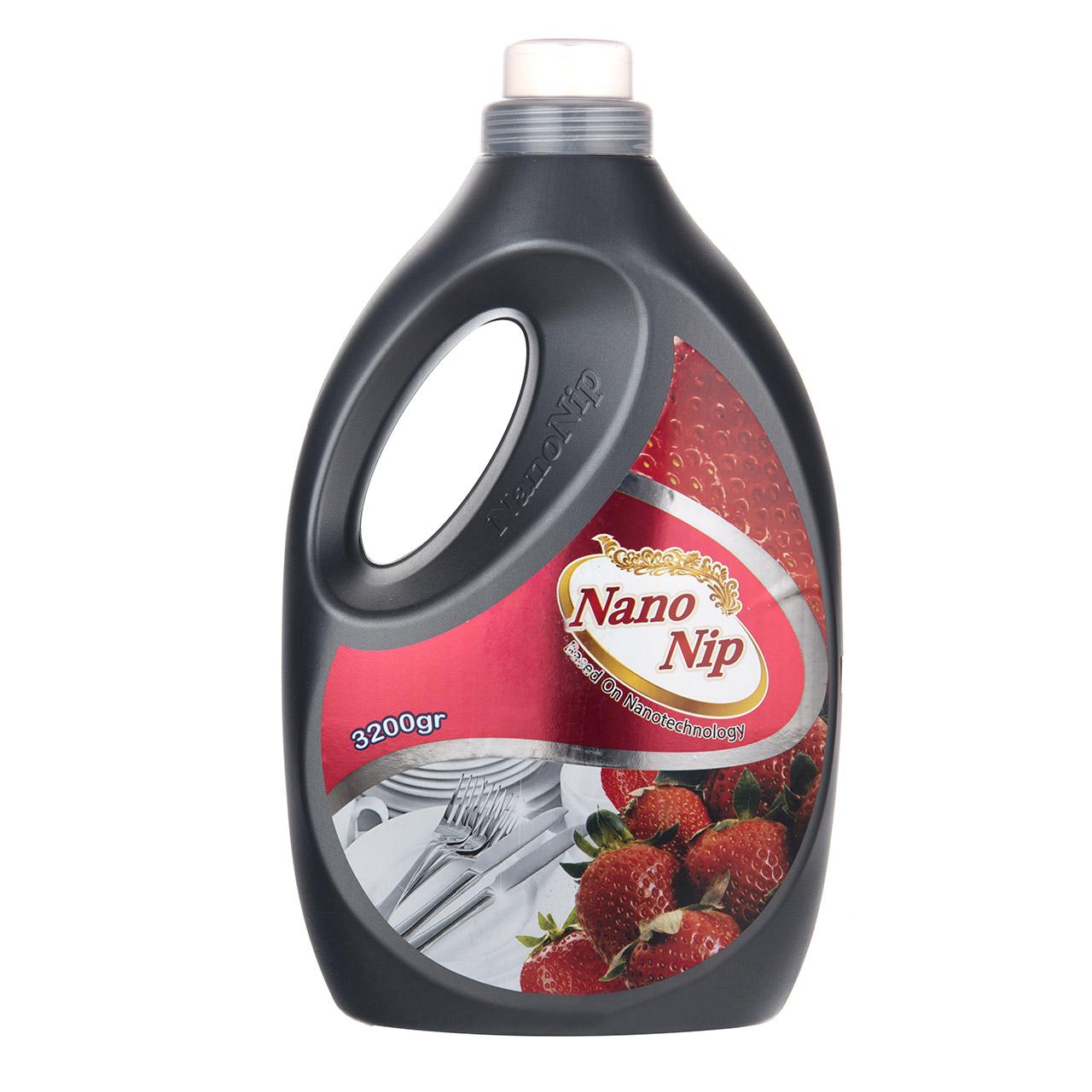 مایع ظرفشویی نانو نیپ مدل Strawberry مقدار 4000 گرم