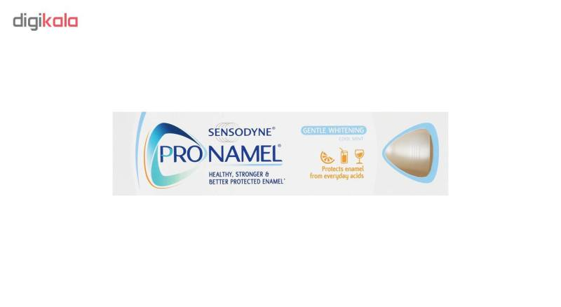 خمیر دندان سنسوداین مدل Pro-Namel Gentle Whitening حجم 75 میلی لیتر بسته 2 عددی