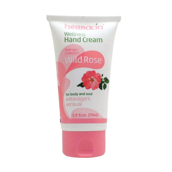 کرم مرطوب کننده دست و بدن هرباسین مدل Wild Rose Wellness حجم 75 میلی لیتر