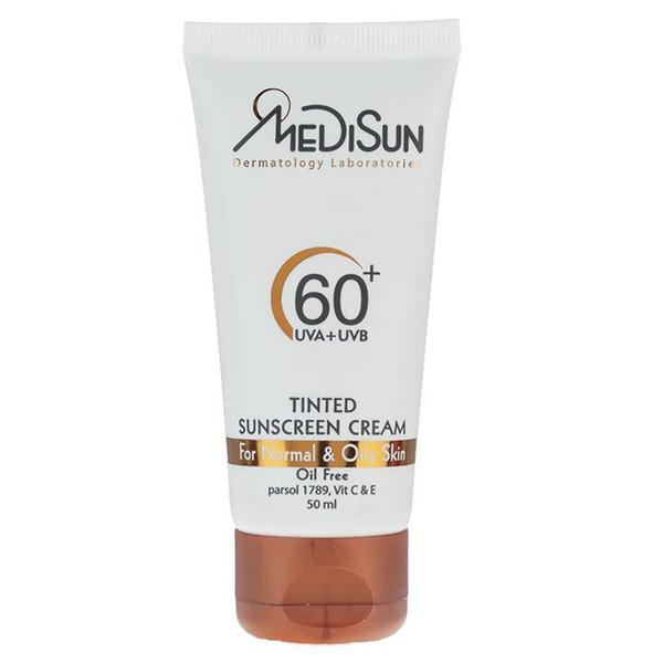 کرم ضد آفتاب مدیسان سری Normal And Oily Skin مدل Tinted حجم 50 میلی لیتر