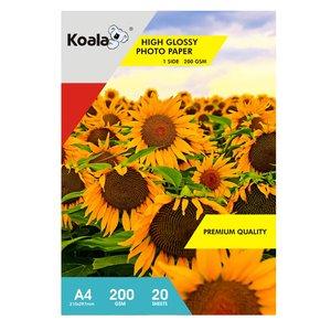 کاغذ چاپ عکس  گلاسه کوالا مدل K200 سایز A4 بسته 20 عددی