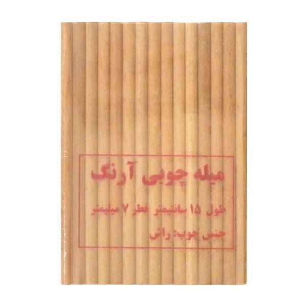 میله چوبی آرنگ مدل MIL_R_1507_30 بسته 30 عددی