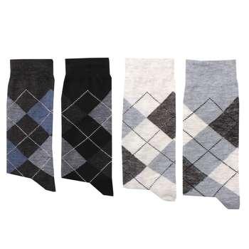 جوراب مردانه کد D015 بسته 4 عددی