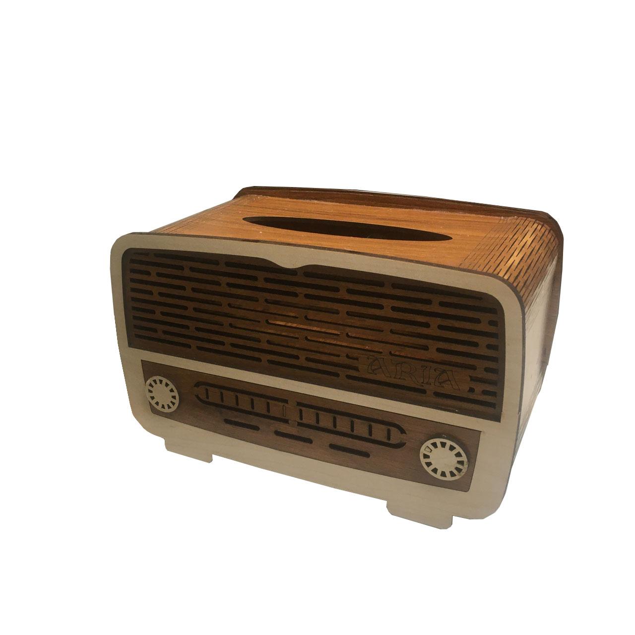 عکس جعبه دستمال کاغذی طرح رادیو کد Q1