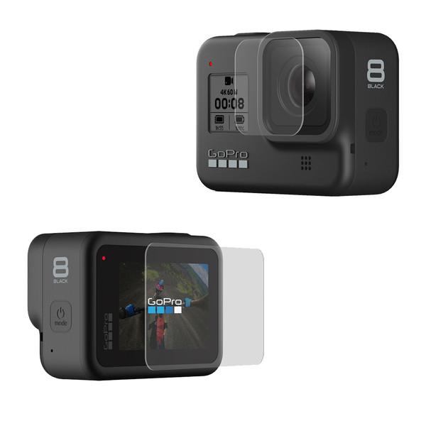 محافظ صفحه نمایش و لنز دوربین پلوز مدل PU422 مناسب برای دوربین ورزشی گوپرو Hero 8
