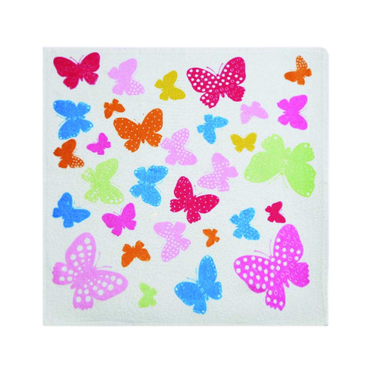حوله آشپزخانه آکیپک مدل Butterflies سایز 50x50 سانتیمتر