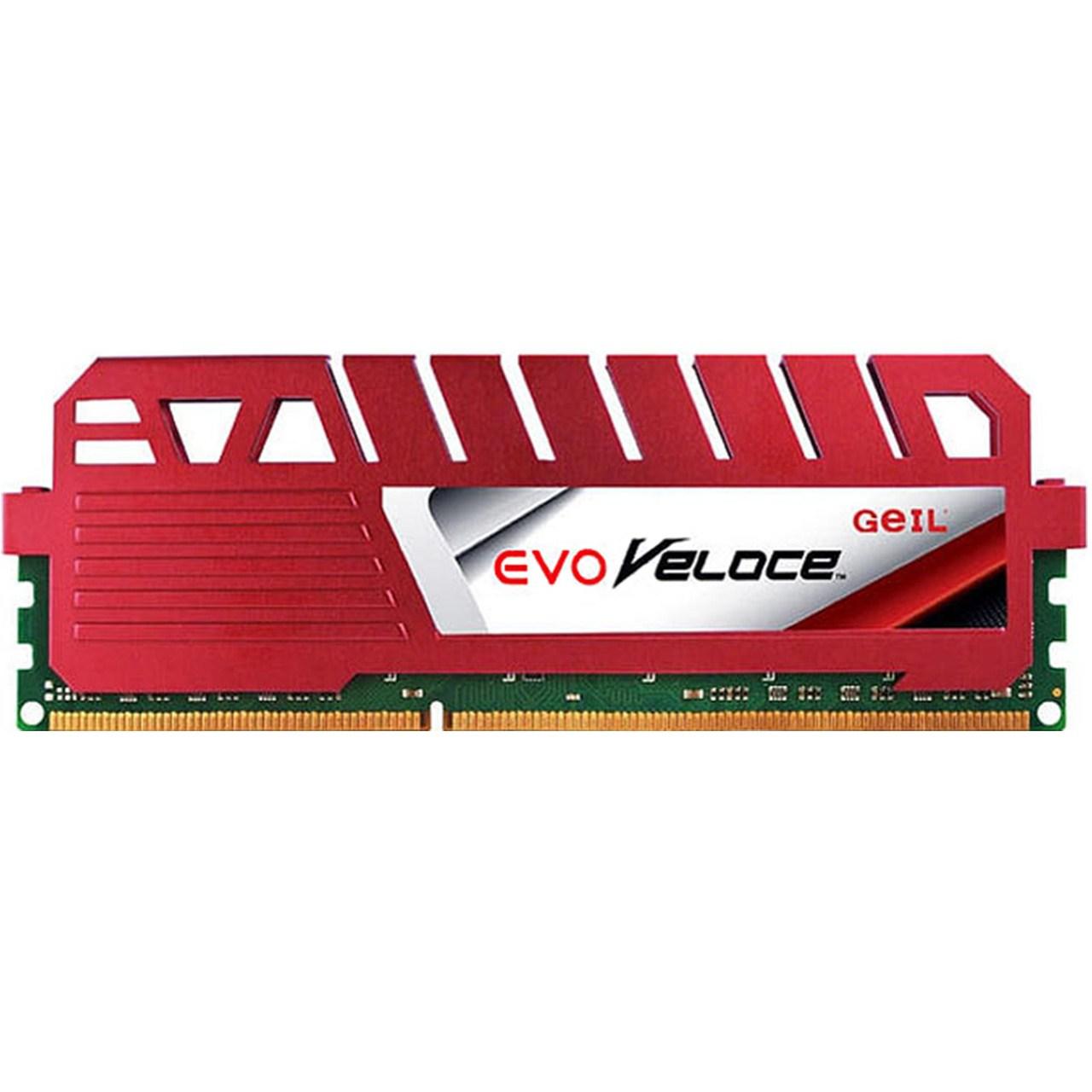 رم دسکتاپ DDR3 تک کاناله 1600 مگاهرتز CL11 گیل مدل Evo Veloce ظرفیت 4 گیگابایت