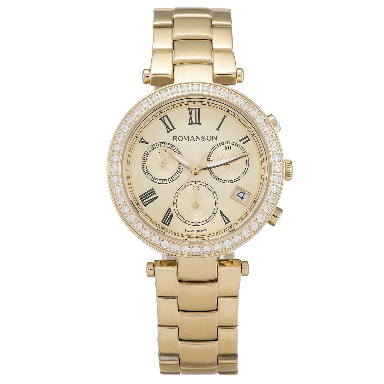 ساعت مچی عقربه ای زنانه رومانسون مدل RM6A02HLGGA8R5 45