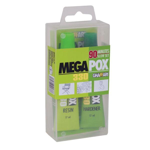 چسب مگاپوکس غفاری مدل 330 بسته 2 عددی حجم 34 میلی لیتر