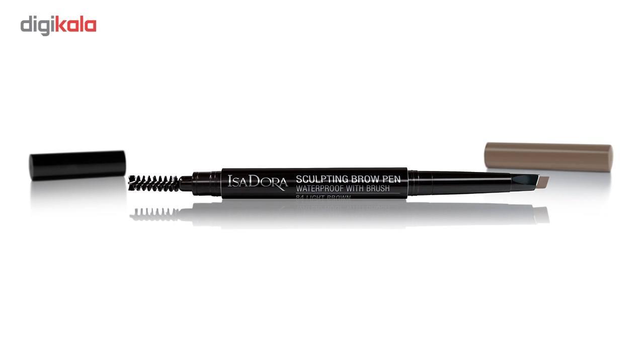 مداد ابرو ایزادورا مدل Sculpting Brow Pen شماره 84 -  - 2