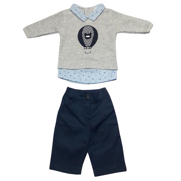 ست تی شرت و شلوار نوزادی پسرانه مدل 5022