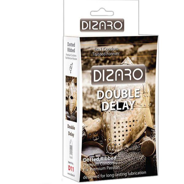 کاندوم دیزارو مدل DOTTED RIBBED DOBLE DELAY کد D11 بسته 12 عددی