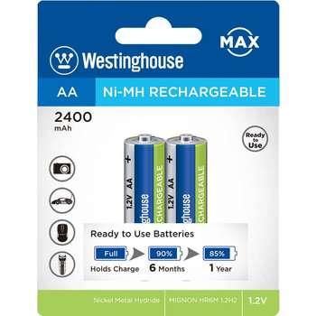 باتری قابل شارژ قلمی وستینگ هاوس مدل Ni-MH Rechargeable بستهی 2 عددی