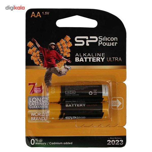 باتری قلمی سیلیکون پاور مدل Alkaline Ultra بسته 2 عددی