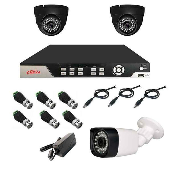 سیستم امنیتی نظارتی دوربین مداربسته هگزا مدل SX4001A