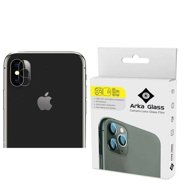 محافظ لنز دوربین آرکا گلس مدل gla مناسب برای گوشی موبایل اپل iphone x
