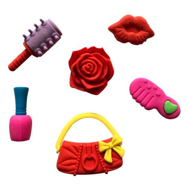 خرید لوازم تحریر فانتزی - پاک کن فانتزی طرح اسباب بازی دخترانه چند تکه۱