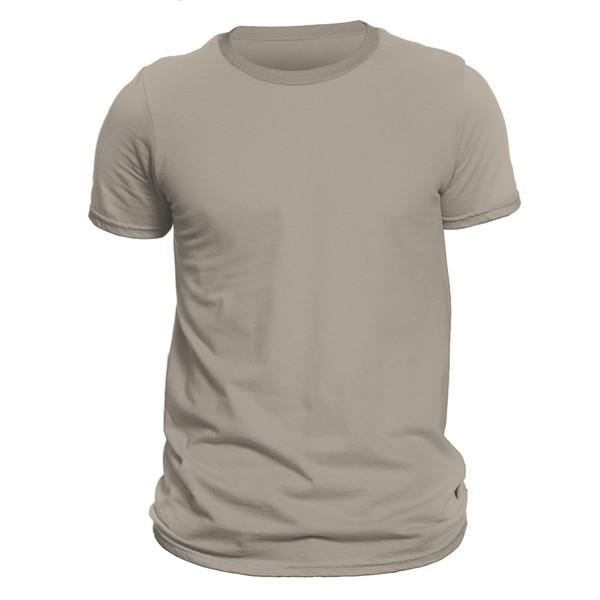 تیشرت آستین کوتاه مردانه کد 1FCRR رنگ کرم