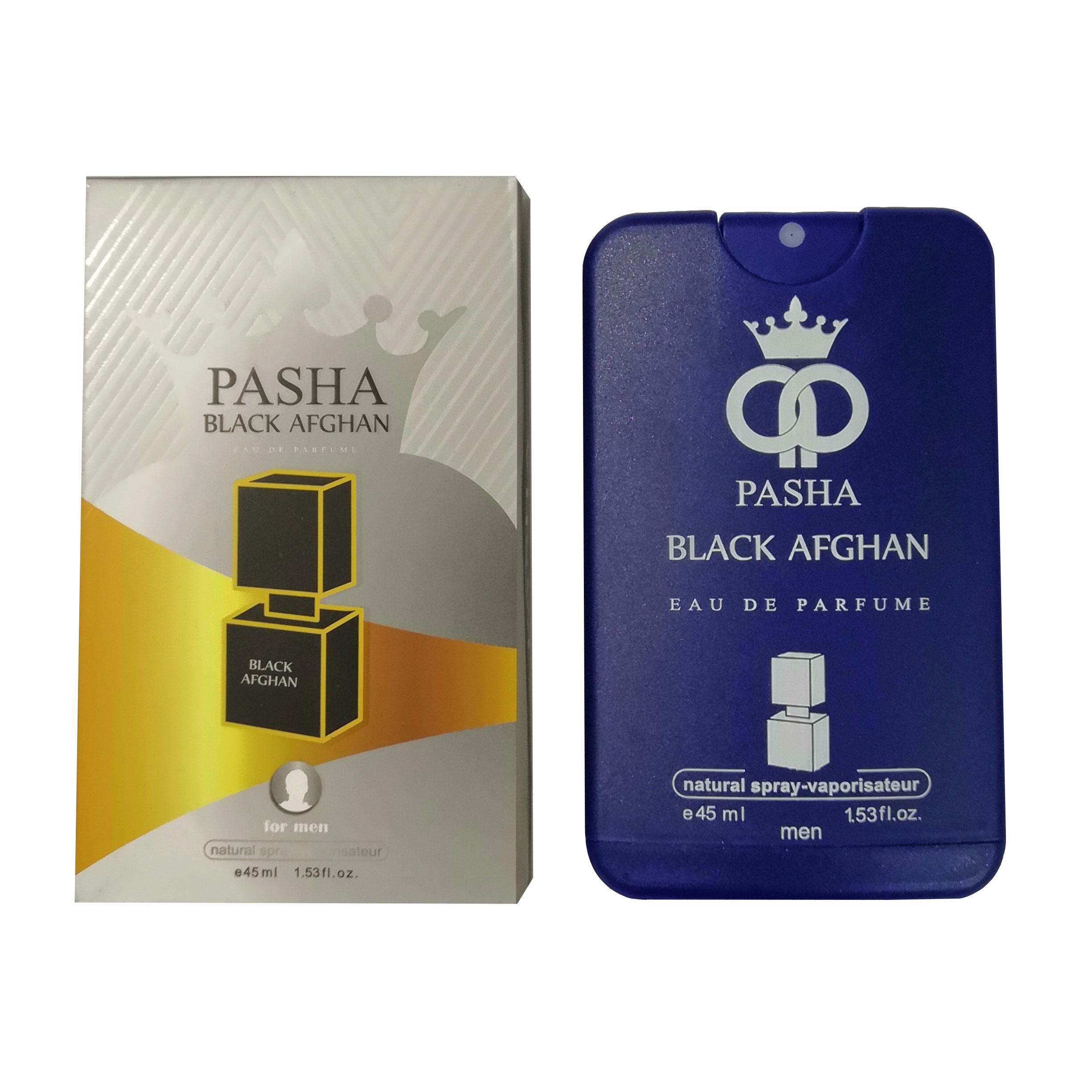عطر جیبی مردانه پاشا مدل BLACK AFGHAN حجم 45 میلی لیتر