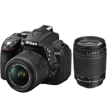 دوربین دیجیتال نیکون مدل D5300 به همراه لنز 18-55 و 70-300 میلی متر  F/4-5.6G | Nikon D5300 kit 18-55 mm And 70-300 mm F/4-5.6G Digital Camera