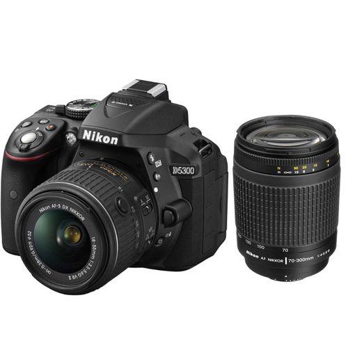 دوربین دیجیتال نیکون مدل D5300 به همراه لنز 18-55 و 70-300 میلی متر  F/4-5.6G
