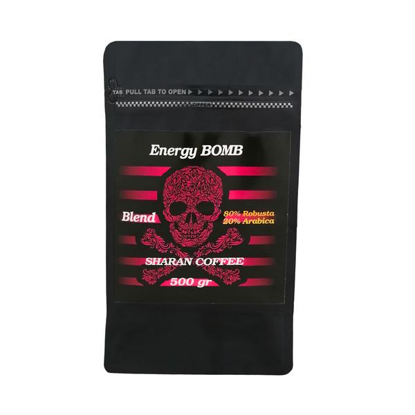 دانه قهوه ترکیبی شاران مدل Energy Bomb مقدار 500 گرم