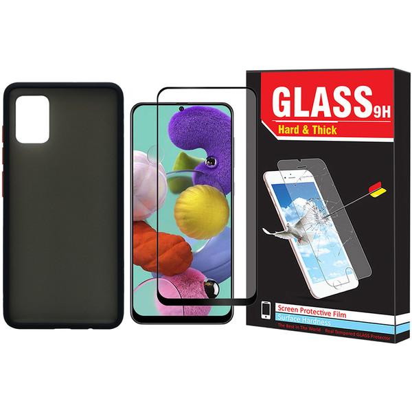 کاور مدل Sb-001 مناسب برای گوشی موبایل سامسونگ Galaxy A51 به همراه محافظ صفحه نمایش Hard and Thick