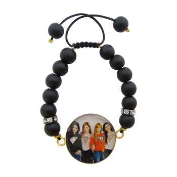 دستبند زنانه طرح blackpink کد 3001