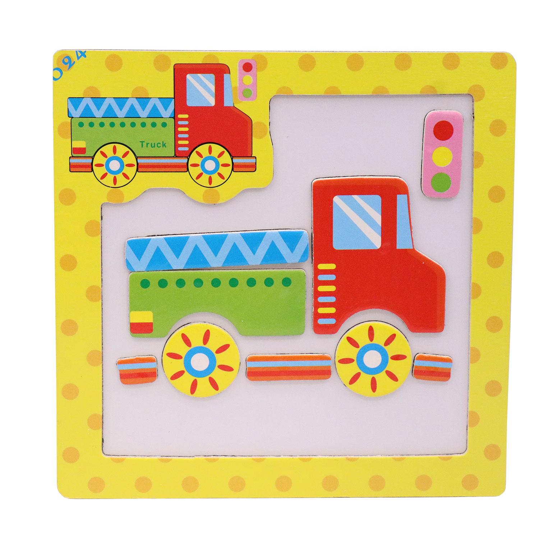 قیمت خرید بازی آموزشی طرح جورچین کامیون کد 6231 اورجینال