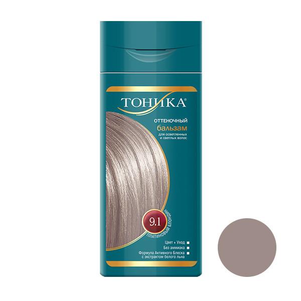 شامپو رنگ مو تونیکا شماره 9.1 حجم 150 میلی لیتر رنگ بلوند پلاتینه