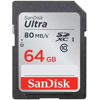 کارت حافظه SDXC سن دیسک مدل Ultra کلاس 10 استاندارد UHS-I U1 سرعت 80MBps 533X ظرفیت 64 گیگابایت