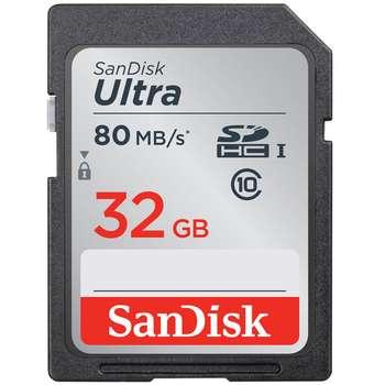 کارت حافظه SDHC سن دیسک مدل Ultra کلاس 10 استاندارد UHS-I U1 سرعت 533X 80MBps ظرفیت 32 گیگابایت