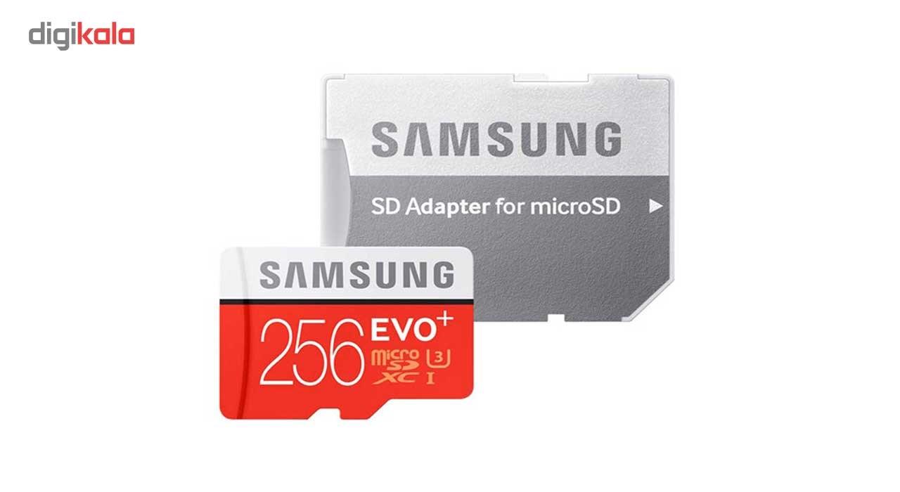 کارت حافظه microSDXC سامسونگ مدل Evo Plus کلاس 10 استاندارد UHS-I U3 سرعت 100MBps همراه با آداپتور SD ظرفیت 256 گیگابایت