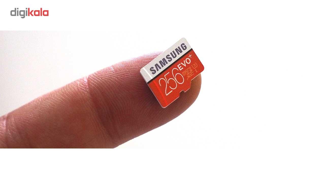 کارت حافظه microSDXC سامسونگ مدل Evo Plus کلاس 10 استاندارد UHS-I U3 سرعت 100MBps همراه با آداپتور SD ظرفیت 256 گیگابایت main 1 2