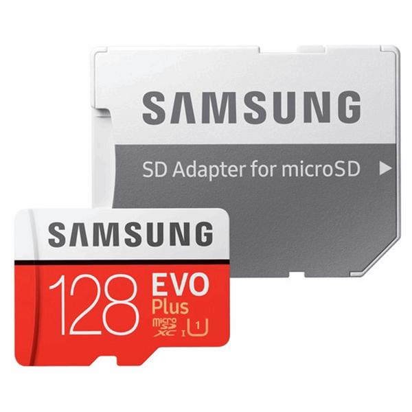 کارت حافظه microSDXC سامسونگ مدل Evo Plus کلاس 10 استاندارد UHS-I U1 سرعت 80MBps همراه با با آداپتور SD ظرفیت 128 گیگابایت