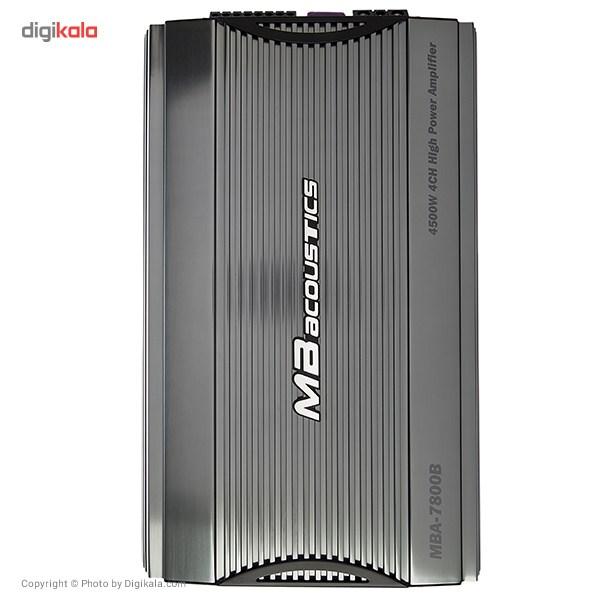 خرید اینترنتی آمپلی فایر خودرو ام بی آکوستیکس مدل MBA-7800B اورجینال