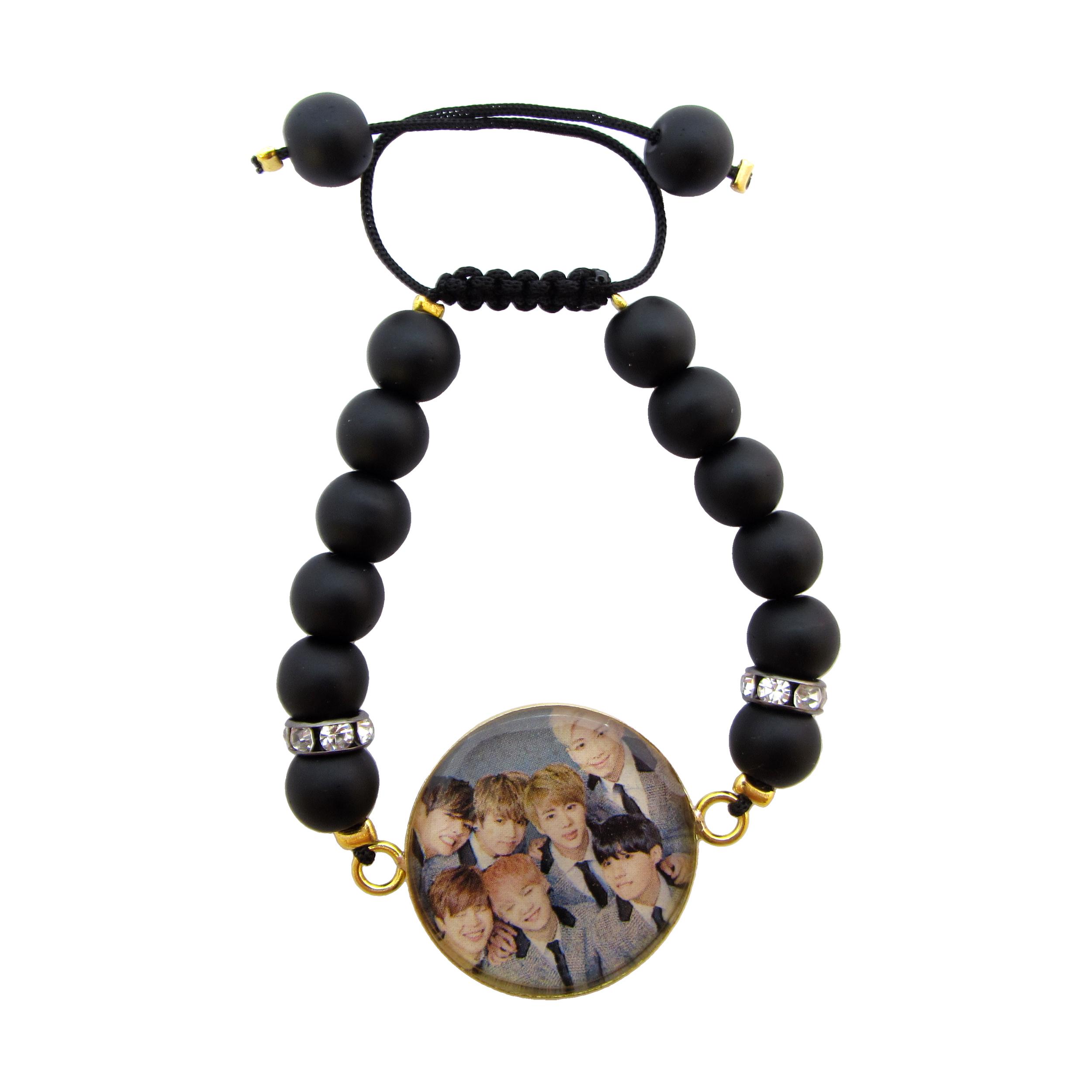 دستبند زنانه طرح BTS کد 1018