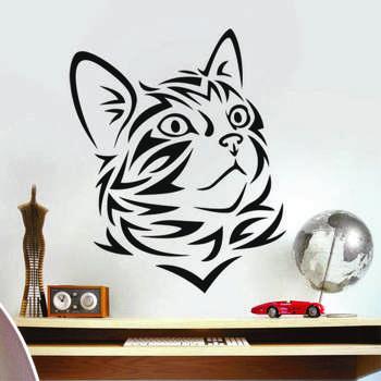 استیکر دیواری گروه طراحی سهیل چاپ طرح گربه کد 01
