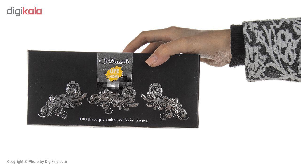 دستمال کاغذی 100 برگ چشمک مدل Gold Royal119 main 1 4