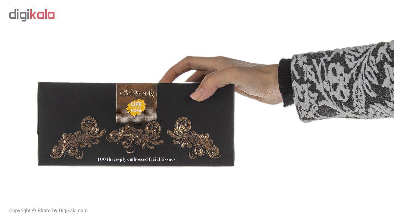 دستمال کاغذی 100 برگ چشمک مدل Gold Royal119 main 1 8