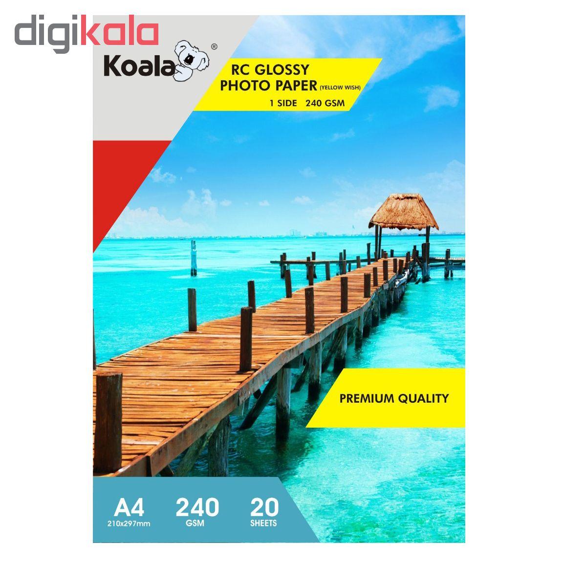 قیمت                      کاغذ چاپ عکس فتوگلاسه کوالا مدل K240 سایز A4 بسته 100 عددی