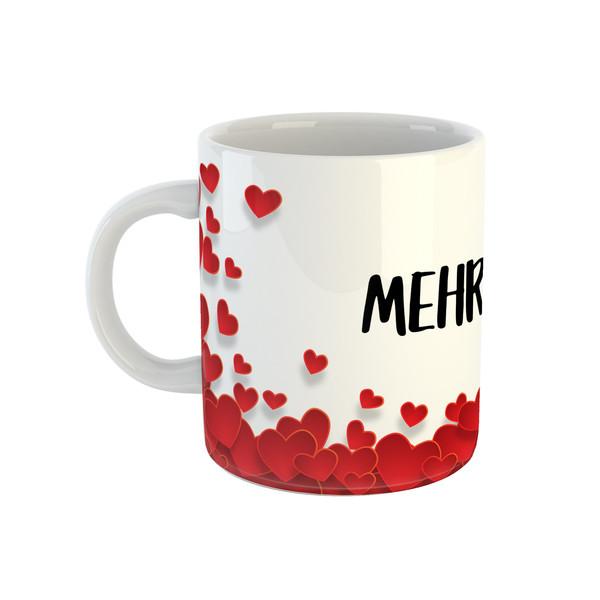 ماگ طرح قلب مدل مهرانا