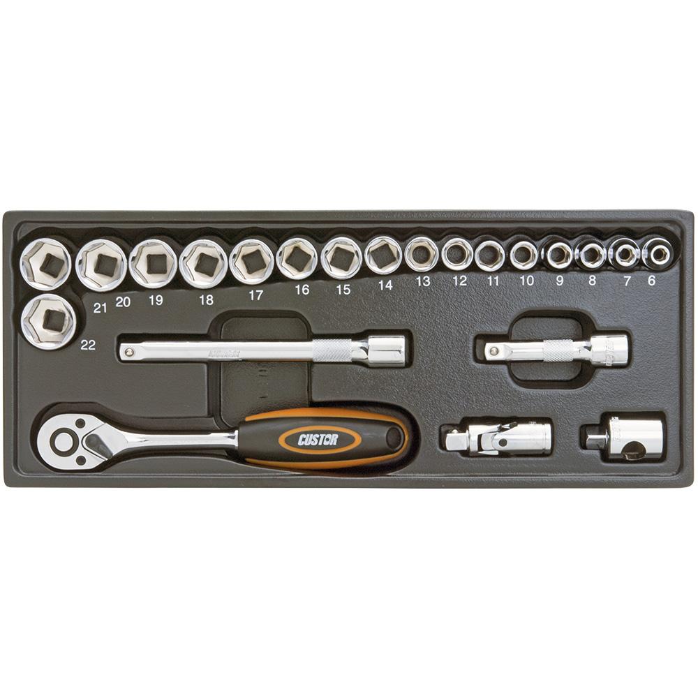 مجموعه 22 عددی آچار بکس کاستور مدل TK-03022S