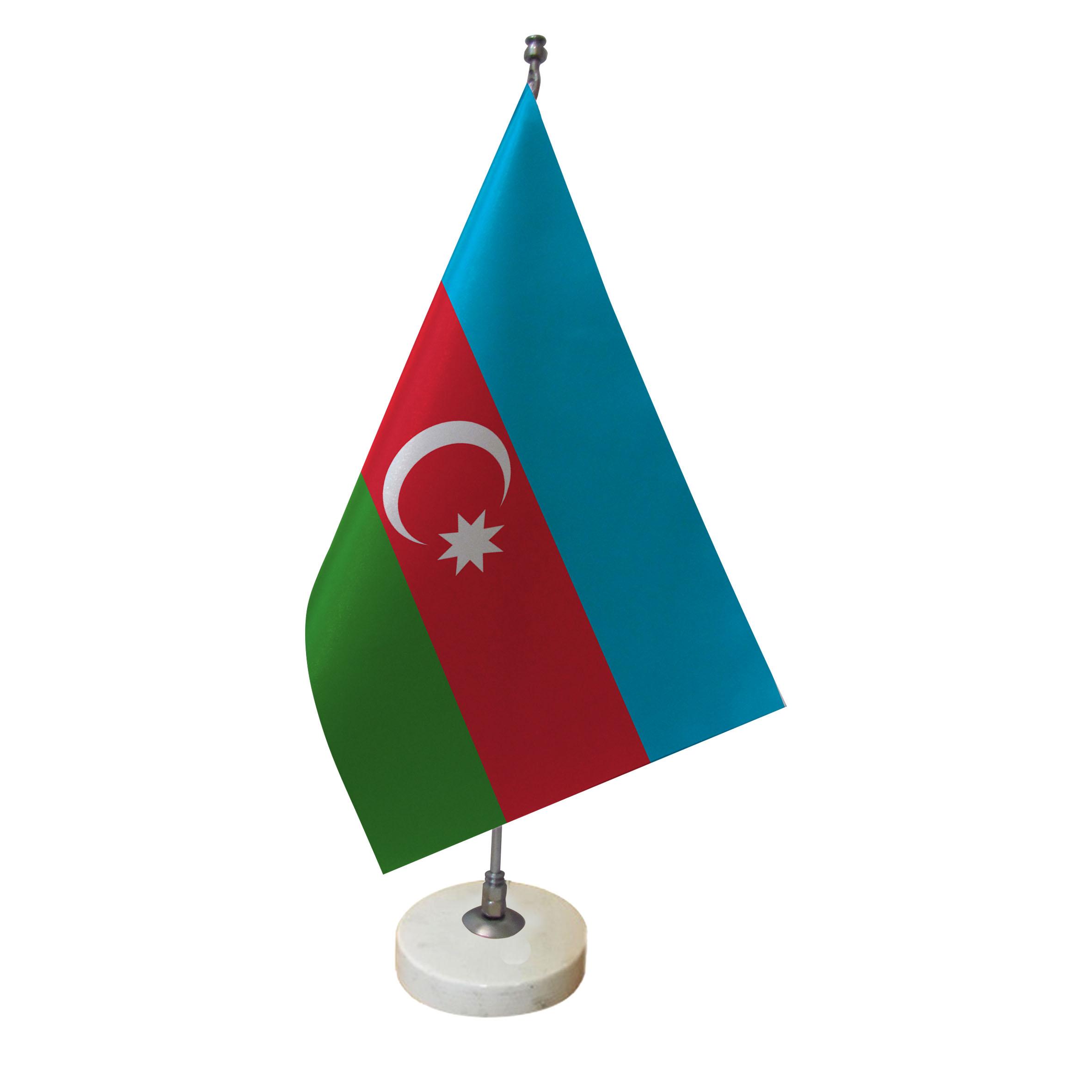 پرچم رومیزی طرح پرچم آذربایجان کد pr8