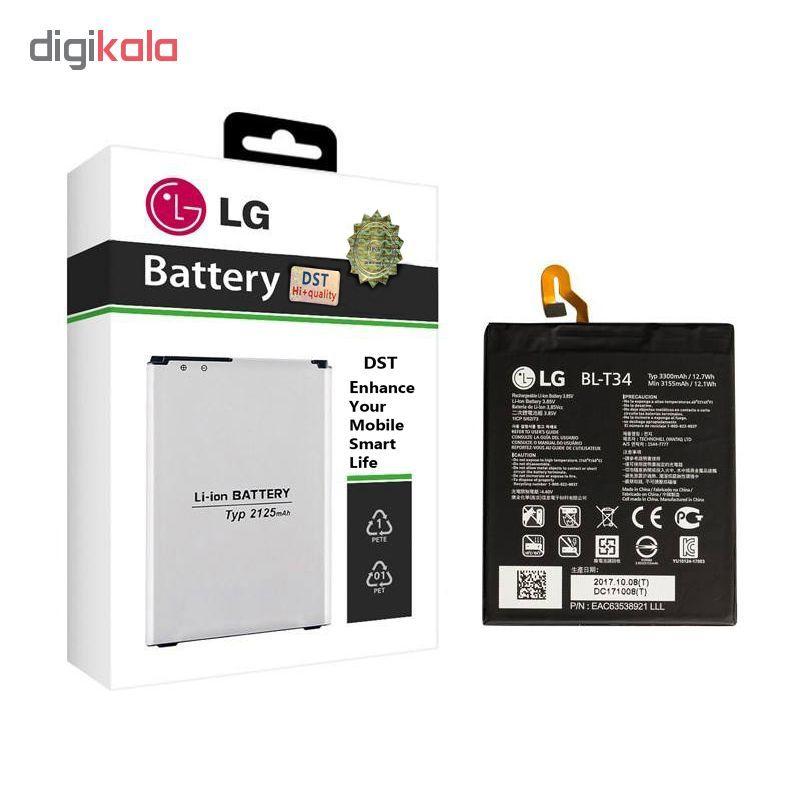 باتری موبایل مدل BL-T34 ظرفیت 3300 میلی آمپر ساعت مناسب برای گوشی موبایل ال جی V30  main 1 1