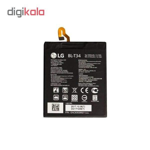 باتری موبایل مدل BL-T34 ظرفیت 3300 میلی آمپر ساعت مناسب برای گوشی موبایل ال جی V30  main 1 2
