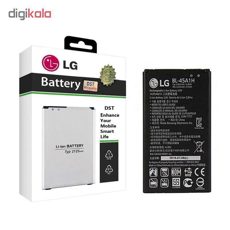 باتری موبایل مدل BL-45A1H ظرفیت 2300 میلی آمپر ساعت مناسب برای گوشی موبایل ال جی K10 2016  main 1 1